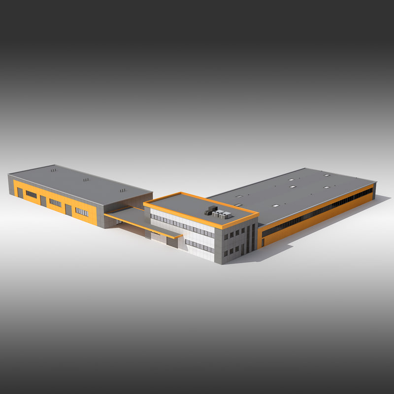market warehouse hypermarke 3d model