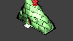 cute simple house 3d model