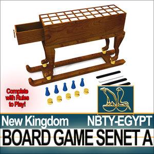 ancient egypt nk board 3d model