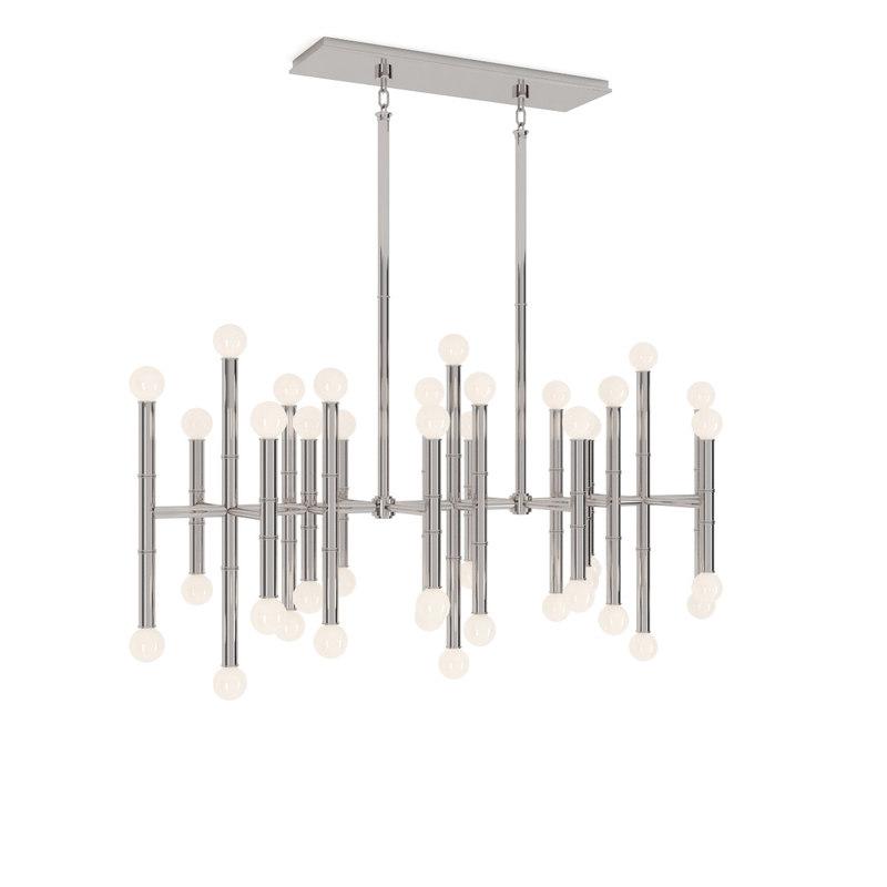 meurice rectangular chandelier 3d max