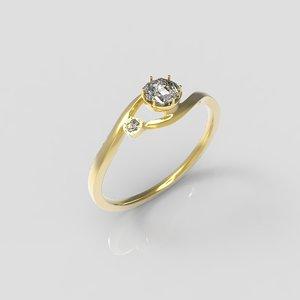 3d model wedding ring