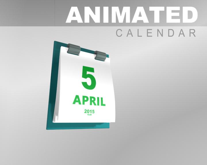date calendar animation 3d max