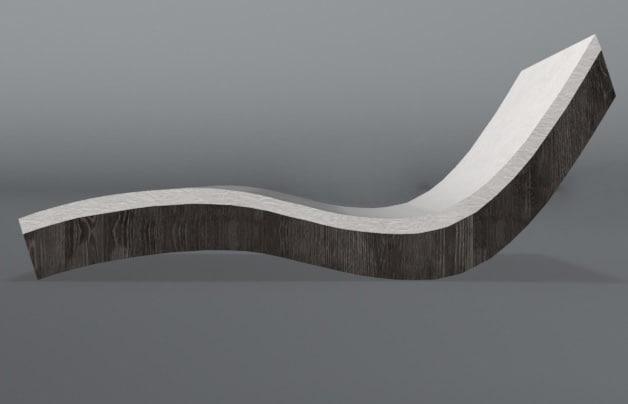 sunbed wood 3d 3ds