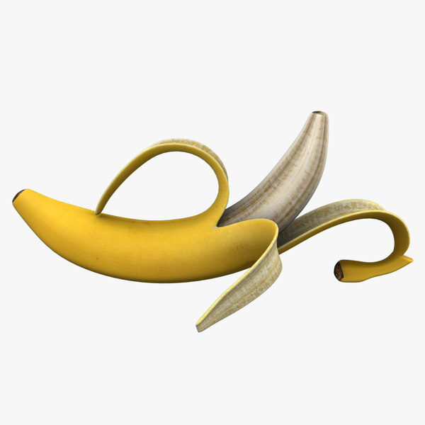 3dsmax banana peeled