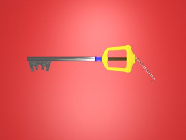 free key blade 3d model