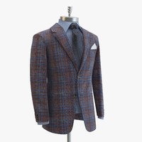 brown suit domenico vacca 3d max