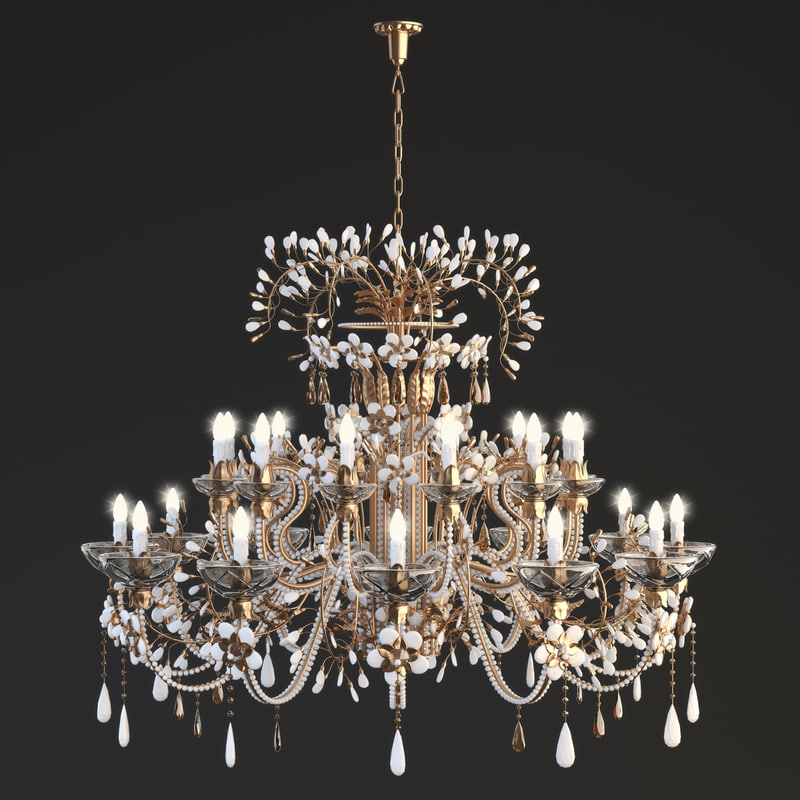 3d mechini chandelier model