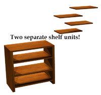 free shelf bookcase 3d model