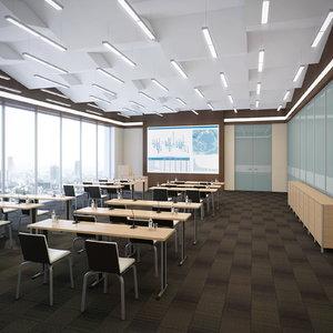 3d model conference room 2