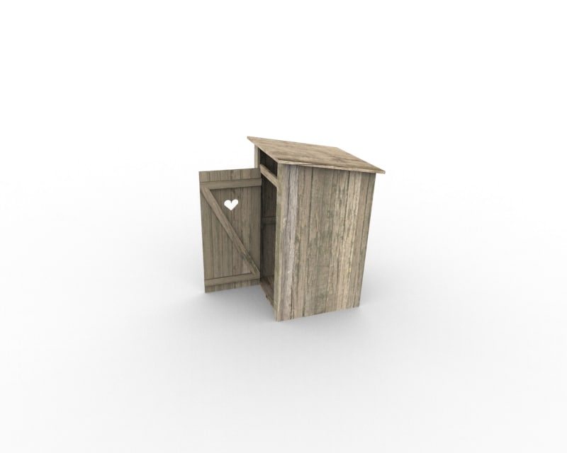 3d model russian countryside