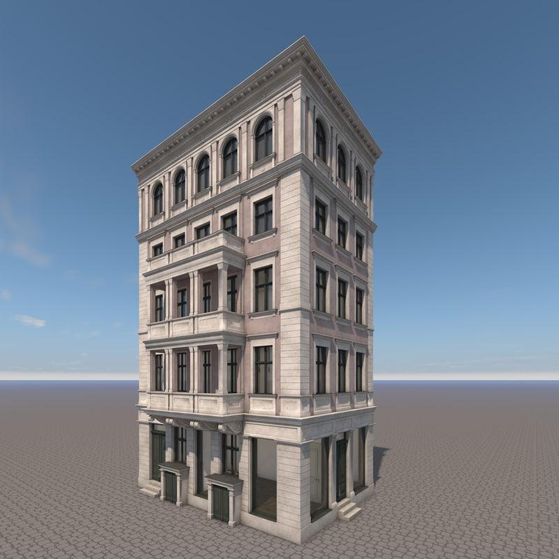 3d c4d house berlin facade building