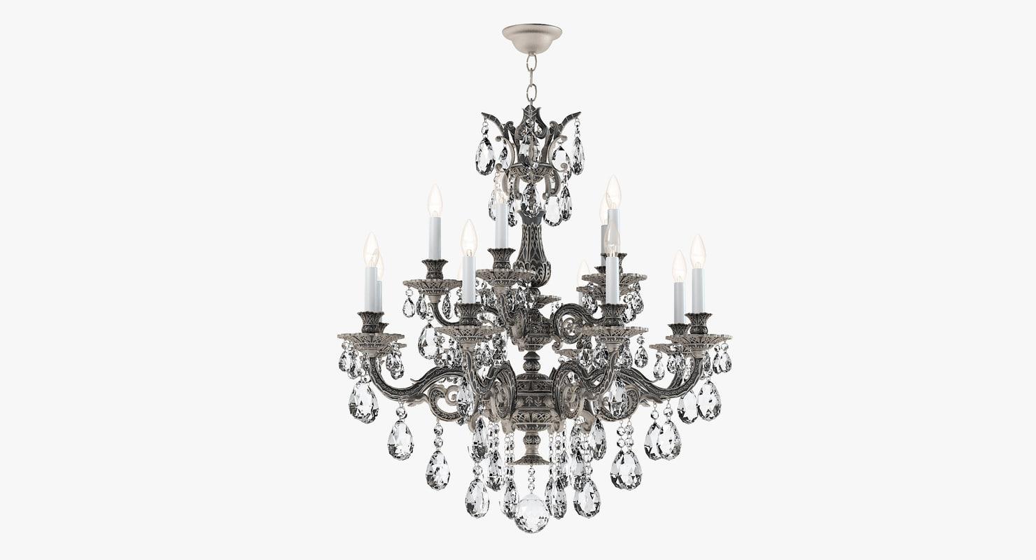 schonbek chandelier 5882-86a 3d model