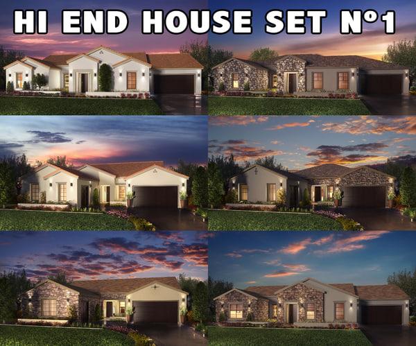 realistic houses settings 3d max
