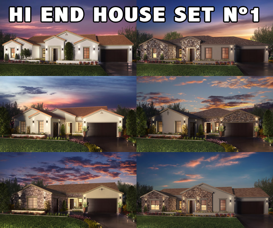 realistic houses settings 3d max
