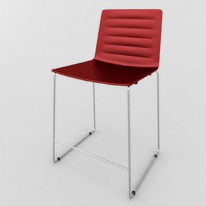 bar chair andreu world 3d model