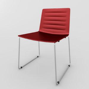 3dsmax chair andreu world flexa