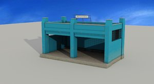 passanger pavilion 3d max