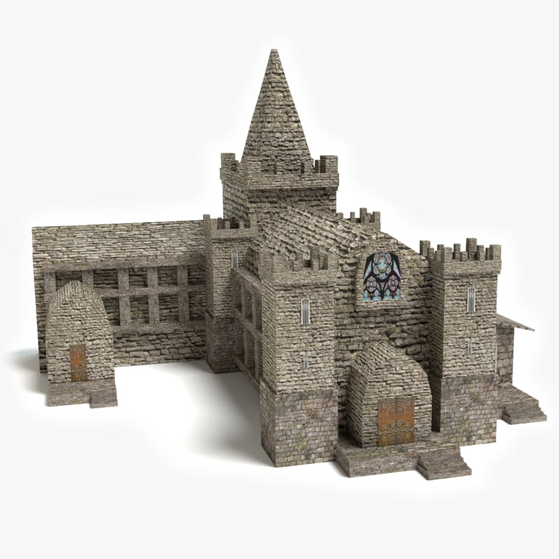3ds medieval church