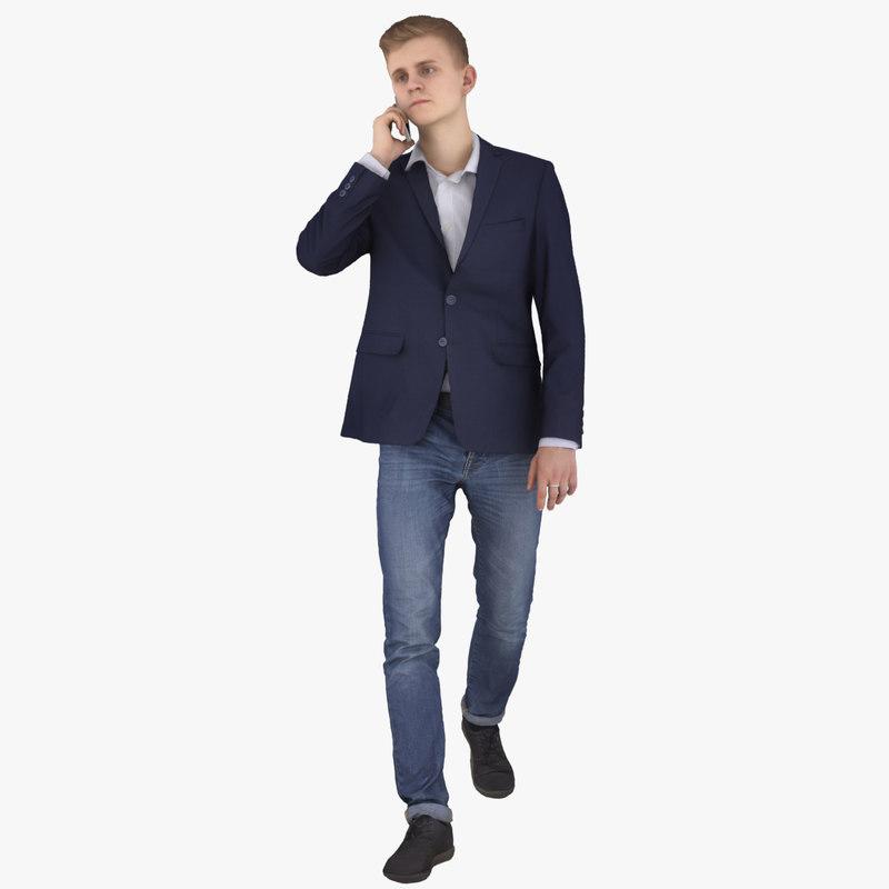 casual man 3d model