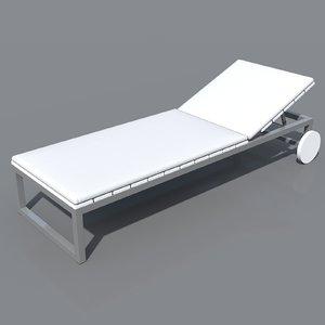 3d gandia saler chaiselongue sunlounger model