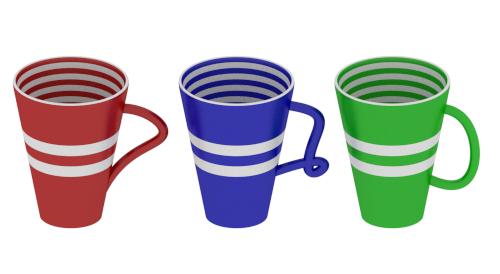 free 3ds model modern mugs