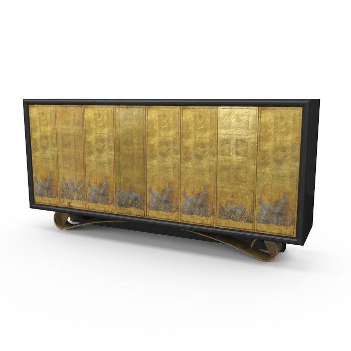 cassetto cabinet 3d max
