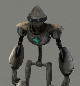 robot modelled obj