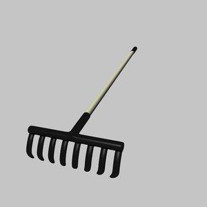 rake gardening tool 3d model
