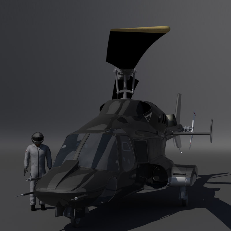 3d model airwolf weapons helcopter