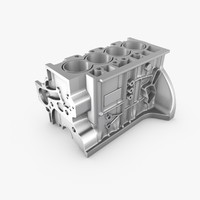 generic engine block 3d c4d
