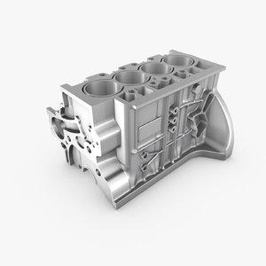 generic engine block 3d c4d