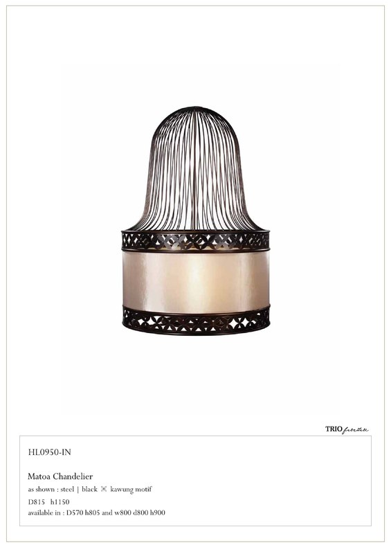 matoa chandilier drop light 3d model