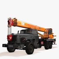 3d crane ural model
