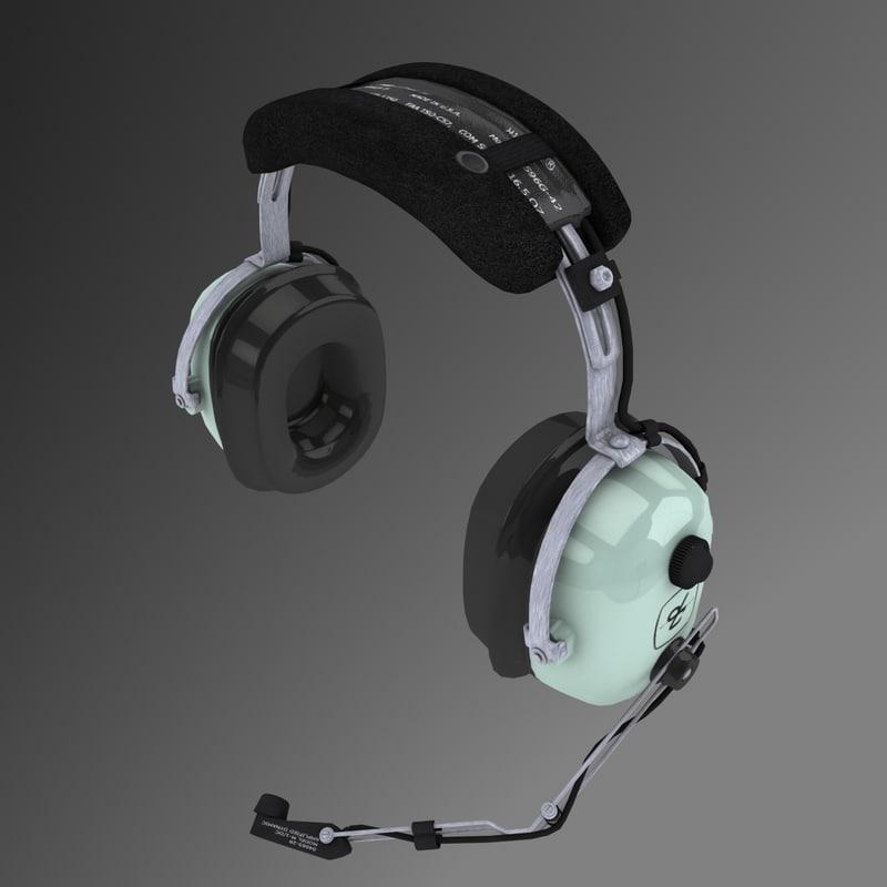 3d david clark headsets pilots