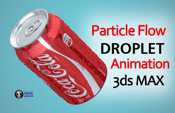 droplets coca cola 3d max