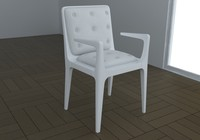3d modern chair armchair model