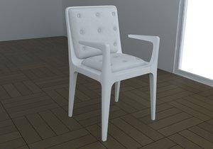 3d modern chair armchair model