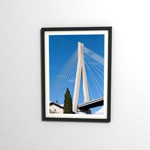 decorative photo frame 3d model