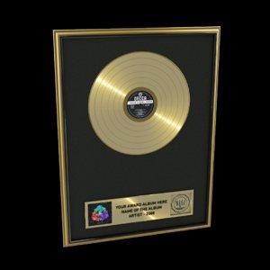 gold record 3d c4d