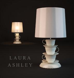 3d table lamp laura ashley model