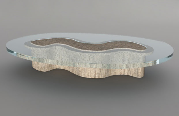max table wood glass