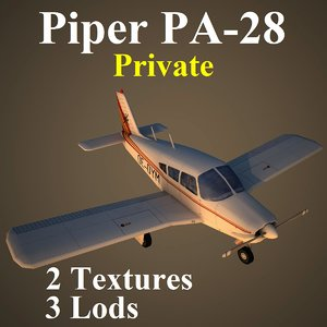 piper cherokee pvt 3d max