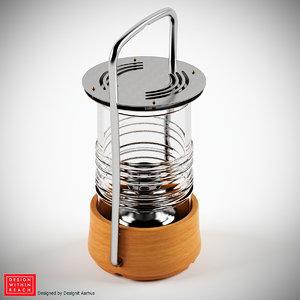 bollard oil lamp 3d model
