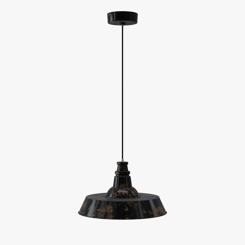3d lucretia industrial funnel pendant lamp model