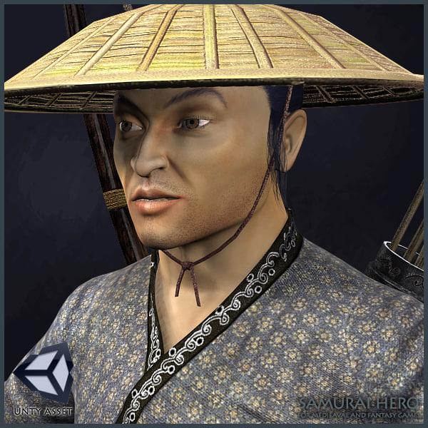 character animations samurai max