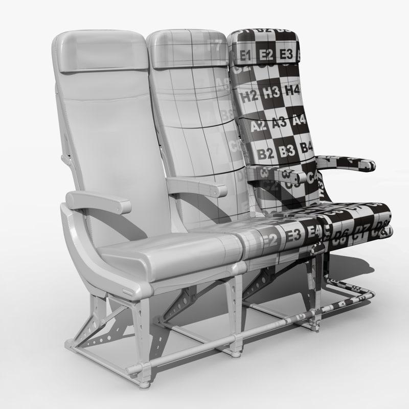 airplane seat obj
