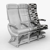 airplane seat obj