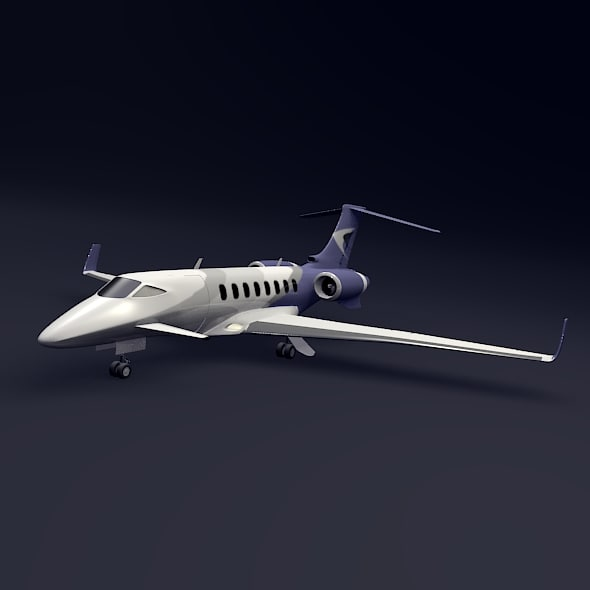 3ds max business jet concept