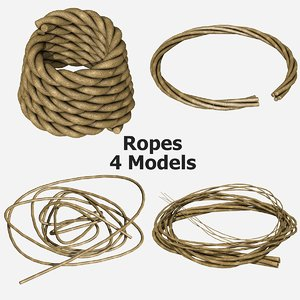 ropes - 4 3d model