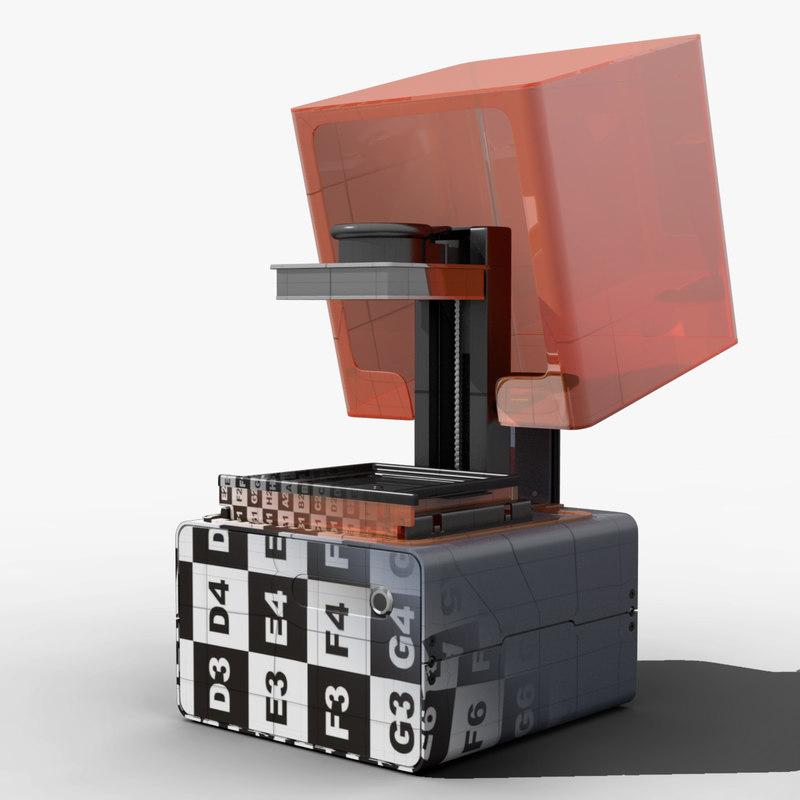 3d model form 1 printer